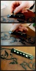 Working on Gennaro Fabricatore guitar
