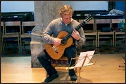 David Merrin playing in Weston Church