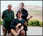 David Merrin with José and Liam Romanillos